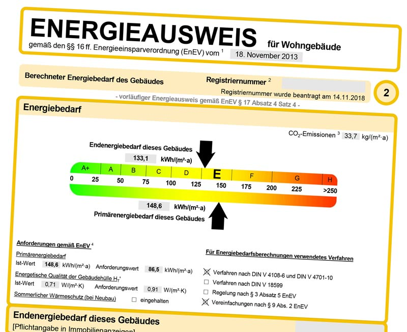 Muster Energieausweis (PDF)